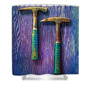 Tools On Wood 65 Shower Curtain