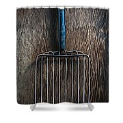 Tools On Wood 66 Shower Curtain