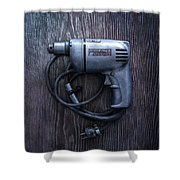 Tools On Wood 76 Shower Curtain
