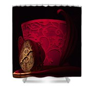 Top Hat Red Dream Shower Curtain