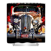 Top Model On Route 66 Shower Curtain