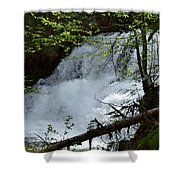 Top Of Clear Creek Falls Shower Curtain