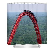 Top Of Intimidator 305 Rollercoaster Shower Curtain