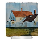 Top Of Monhegan Shower Curtain