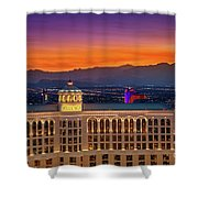 Top Of The Bellagio After Sunset Shower Curtain