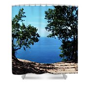 Top Of The Dune At Sleeping Bear Ll Shower Curtain