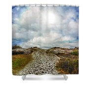 Top Of The Dunes Shower Curtain