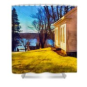 Top Of The Hill, Friendship, Maine Shower Curtain