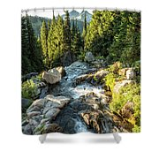 Top Of The Morning At The Top Of Myrtle Falls Shower Curtain