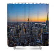 Top Of The Rock At Sunset Shower Curtain