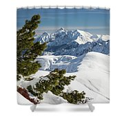 Top Of The Top - Lombardy / Italy Shower Curtain