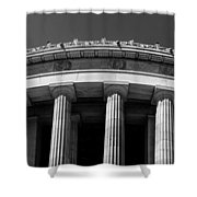 Top Portion Of A Lincoln Memorial Old Greek Architecture Shower Curtain