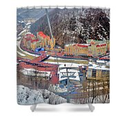 Top View. Krasnaya Polyana. Shower Curtain