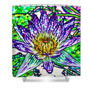 Top View Of A Beautiful Purple Lotus Shower Curtain