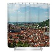 Top View Of Heidelberg, Germany. Shower Curtain