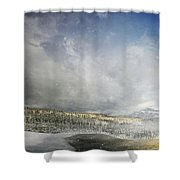 Topic Of Duality Winter-summer Shower Curtain