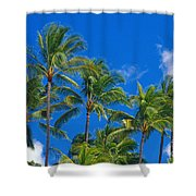 Tops Of Palms Shower Curtain