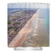Topsail Buzz Surf City Shower Curtain