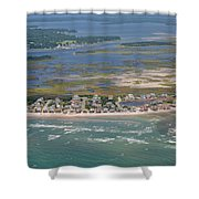 Topsail Island Migratory Model Shower Curtain