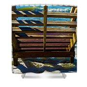 Topsail Island Ocean Steps Shower Curtain