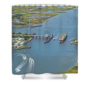 Topsail Island Top Of The Hour Shower Curtain