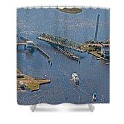 Topsail Swing Bridge Shower Curtain