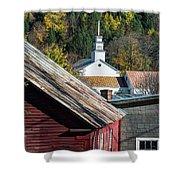 Topsham Village Vermont Shower Curtain