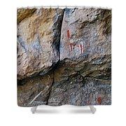 Toquima Cave Pictographs Shower Curtain