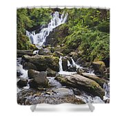 Torc Waterfall In Killarney National Shower Curtain