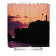 Torch Lighting Shower Curtain