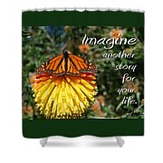 Torch Lily And Monarch Shower Curtain