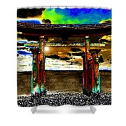 Torii Sunrise Shower Curtain