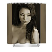 Toriwaits Nude Fine Art Print Photograph In Black And White 5099.01 Shower Curtain