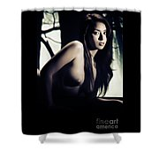 Toriwaits Nude Fine Art Print Photograph In Black And White 5101 Shower Curtain