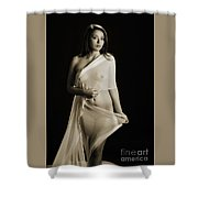 Toriwaits Nude Fine Art Print Photograph In Black And White 5108 Shower Curtain