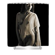 Toriwaits Nude Fine Art Print Photograph In Black And White 5117 Shower Curtain