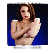Toriwaits Nude Fine Art Print Photograph In Color 5080.02 Shower Curtain