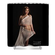 Toriwaits Nude Fine Art Print Photograph In Color 5082.02 Shower Curtain