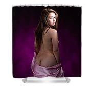 Toriwaits Nude Fine Art Print Photograph In Color 5090.02 Shower Curtain