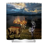 Tormented Soul Shower Curtain