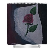Torn Canvas Rose Shower Curtain