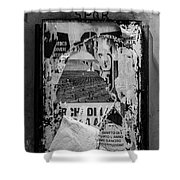 Torn Posters Rome Italy Shower Curtain