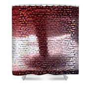 Tornado From Sunsets Mosaic Shower Curtain