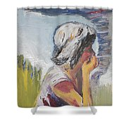 Tornado Girl Shower Curtain