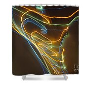 Tornado Of Lights. Dancing Lights Series Shower Curtain