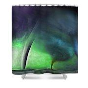 Tornado Storm 1 - Collage Shower Curtain