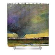 Tornado Warning Shower Curtain