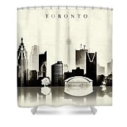 Toronto Black And White Shower Curtain
