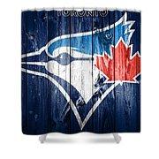 Toronto Blue Jays Barn Door Shower Curtain