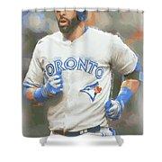 Toronto Blue Jays Jose Bautista Shower Curtain
